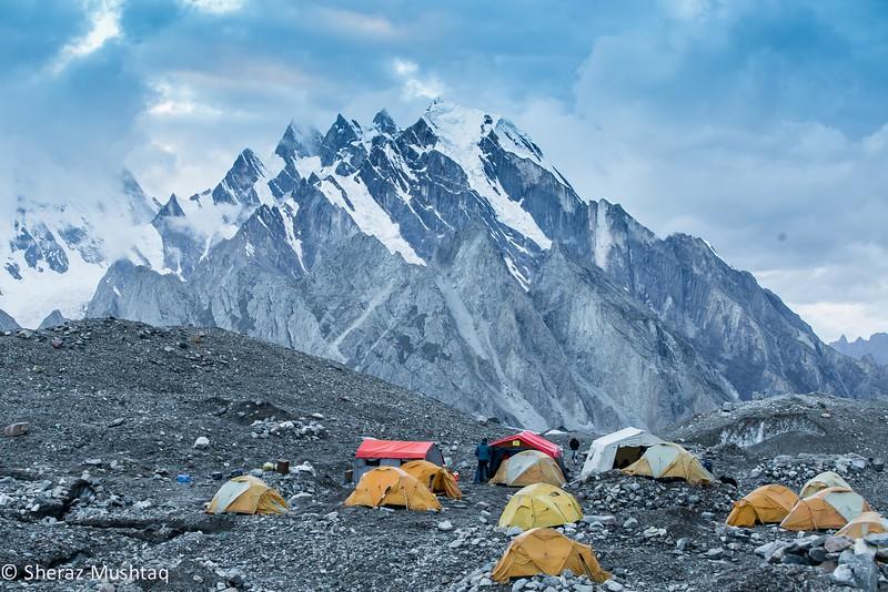 Goro2 Campsite Baltoro Glacier - August 2014