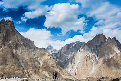 Baltoro glacier trekking. My friends, Asif and Mukkaram taking photos.