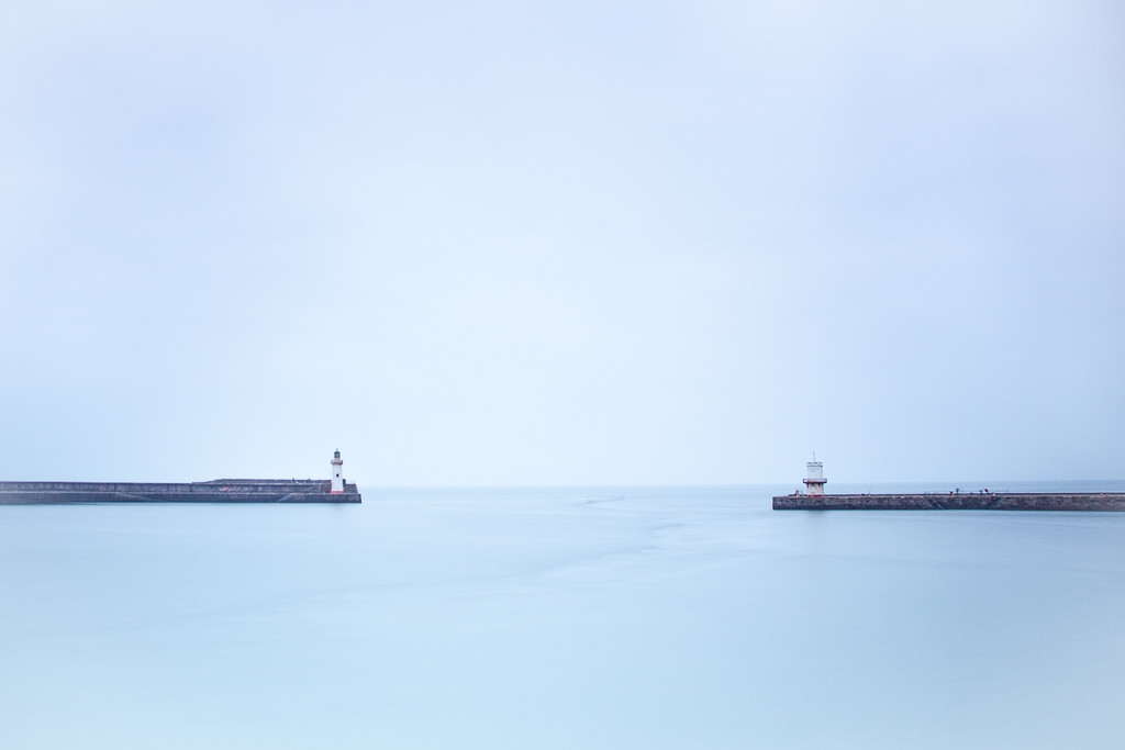 The heads at Whitehaven through a long exposure with the Lee Big Stopper.