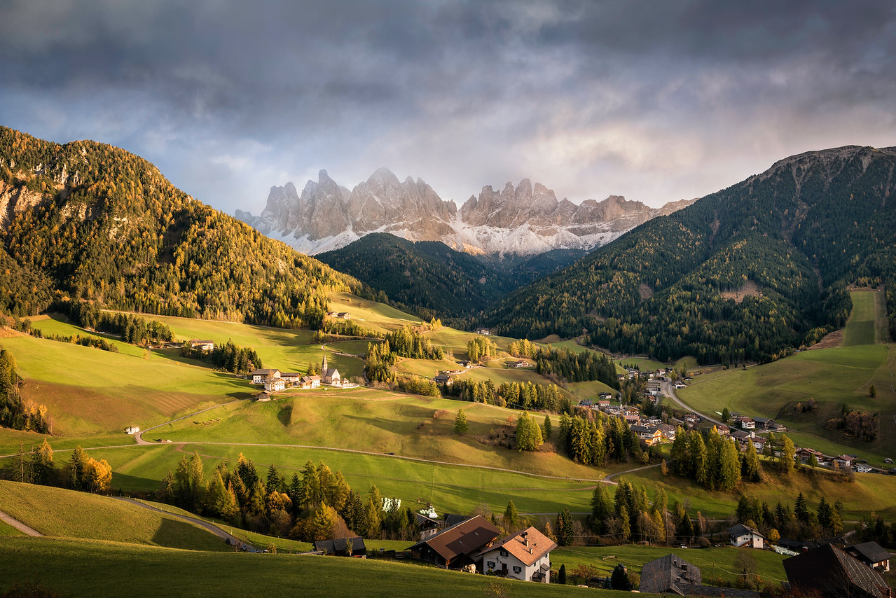 Sunset at Santa Maddalena