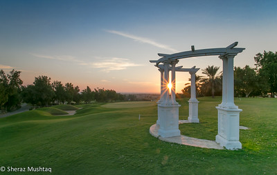 Sunset at Dhahran Golf Course