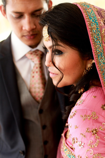 When the bride isn't happy, all the groom can do is say the right words. Only in this case, Victoria and Saraf were playing along my directions.