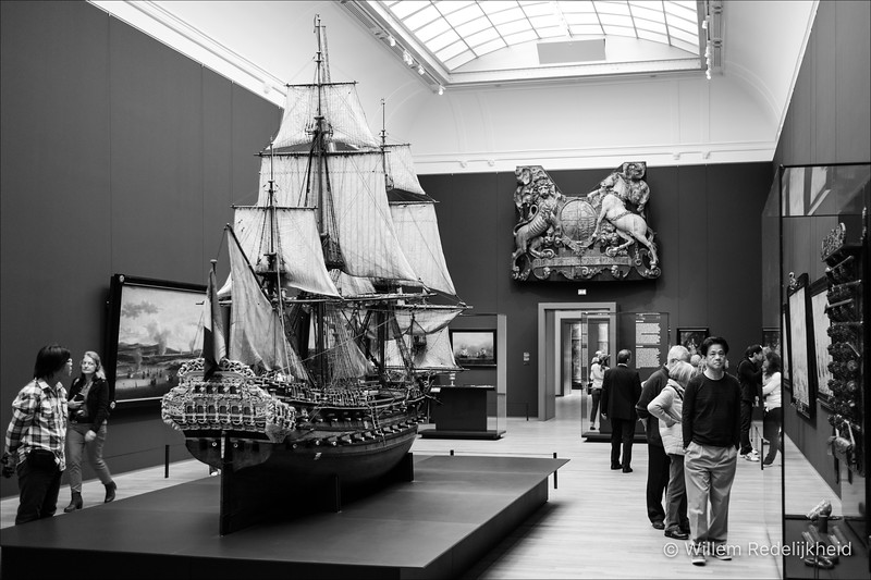 Old model ship with amazing detail