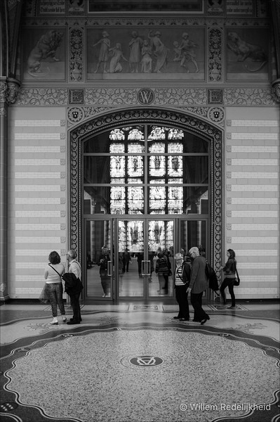 The entrance to the famous painters wing in the Rijksmuseum (van Gogh, Rembrandt, etc.).