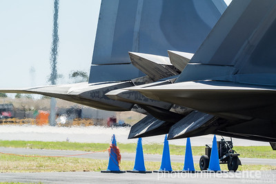 F-22 Raptor exhaust