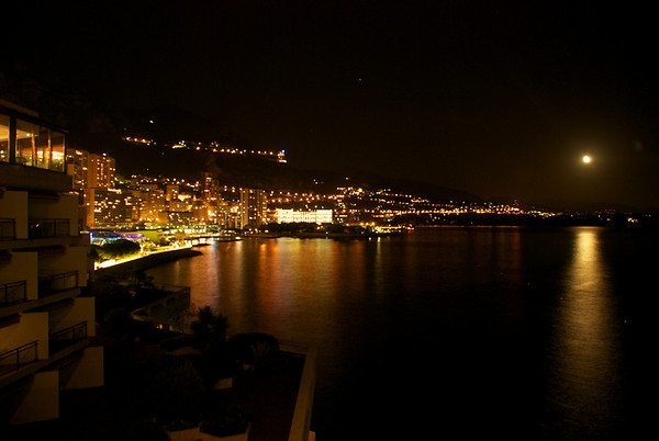 View from our room at the Fairmont Monte Carlo Hotel, Monaco.