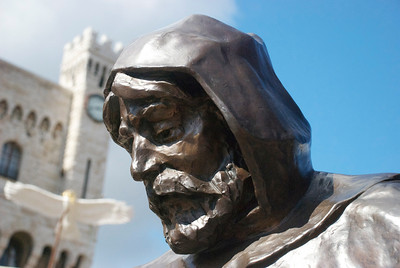 Sculpture of the first Francoi Grimaldi dressed as a monk.    Despite its small size, the country has the longest ruling royal family in Europe. The House of Grimaldi has ruled Monaco for over 700 years, beginning in 1297, when Francois Grimaldi seized the fortress protecting Monaco. Legend has it that he dressed as a monk, and because of his disguise, he was able to overcome the opposing troops. This event is so important in Monaco's history that it is depicted on their coat of arms.