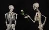 Skeleton giving
