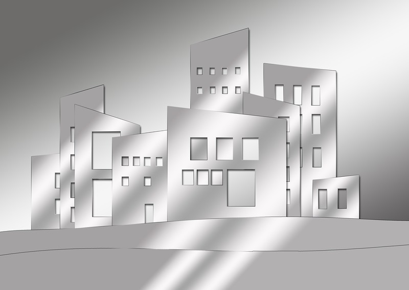 Abstract of buildings