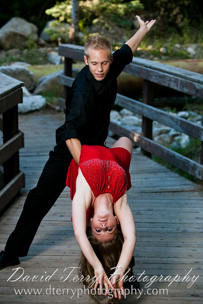 Sarah Wight - Jared Finnell - Ballroom Dancers - Little Cottonwood Canyon - David Terry Photography