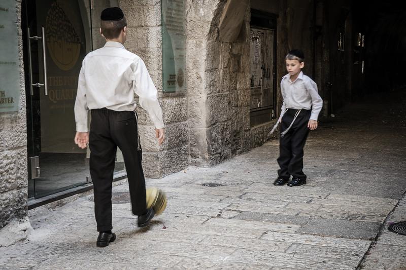 Soccer Players in Jerusalem
