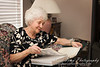 Grandma doing what she does best - genealogy!