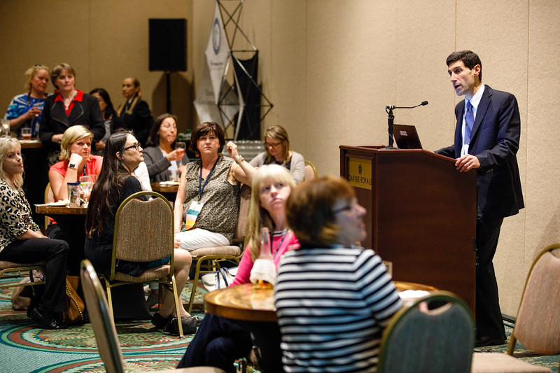 Tyler Gluckman speaks during ACTION Registry & Patient Navigator Hospital Recognition Ceremony