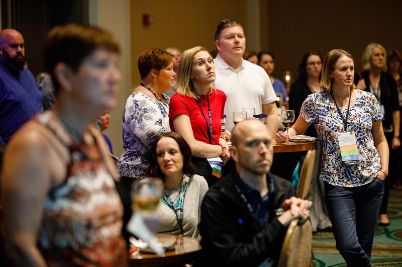Attendees listen as Tyler Gluckman speaks during ACTION Registry & Patient Navigator Hospital Recognition Ceremony
