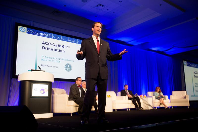 C. Michael Valentine, MD, FACC, during Keynote Presentation