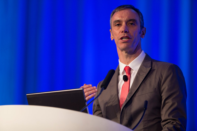 Adriano Caixeta, MD, PhD, of Brazil, speaks during General Session: NCDR Performance Improvement: The Power of Clinical Data