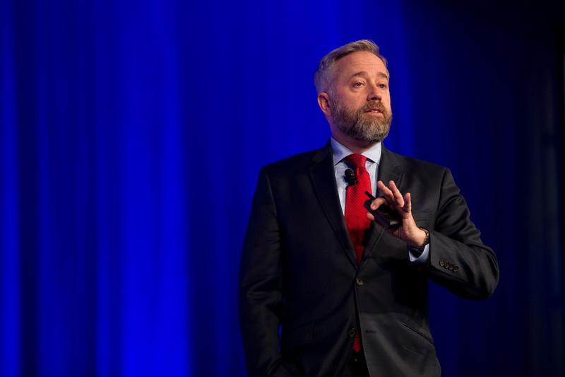 Doug Fridsma, MD PhD during Keynote Presentation