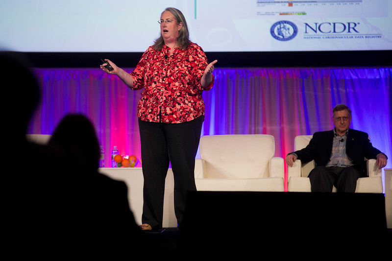 Lara Slattery speaks during General Session: NCDR Stakeholders: Shared Commitment to Accelerate Clinical Performance and Research