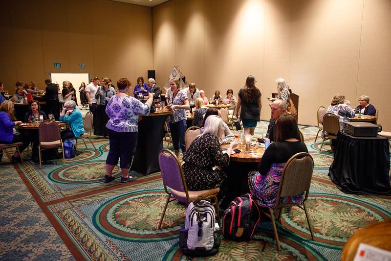 Attendees talk during ACTION Registry & Patient Navigator Hospital Recognition Ceremony