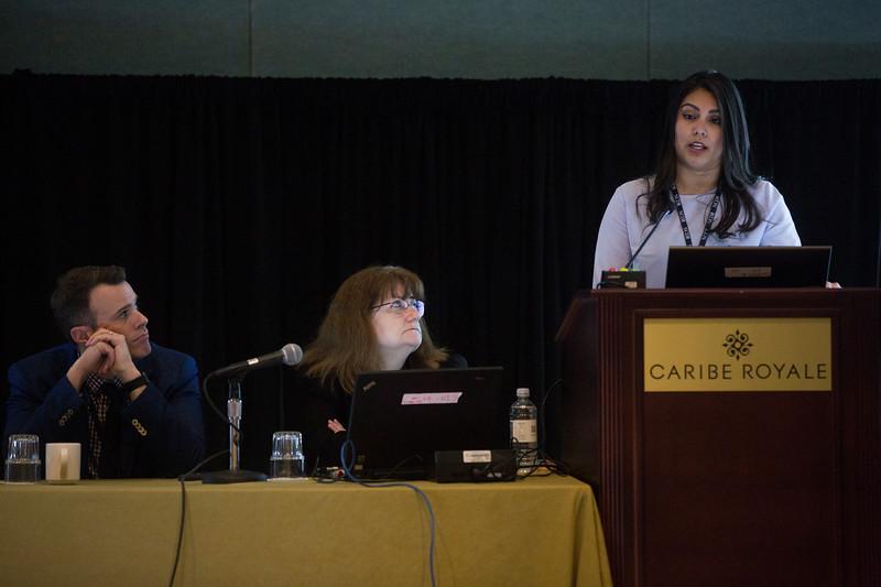 Nadia Garcia speaks during ICD Registry Workshop