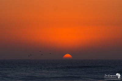 Sunset over the Skeleton Coast