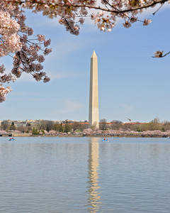Reflection of the Washington Monument in the tidal basin
