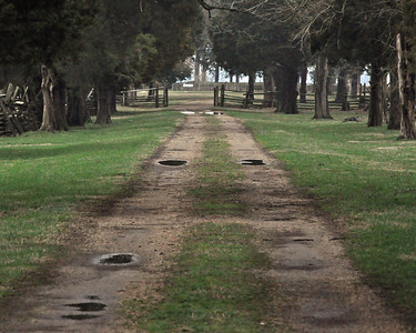 An old dirt road leading to the house that was George Washington's birthplace