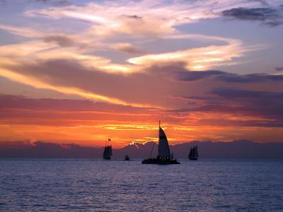 Classic Mallory Square sunset, Key West, FL