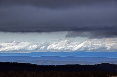 Blue Ridge Mountains under ominous skies