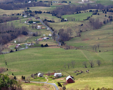 Rolling pastures through the Shenandoah Valley