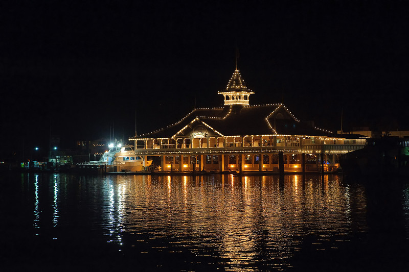 The Balboa Pavilion in Newport Beach, California.