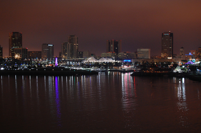 Long Beach California from the Queen Mary.