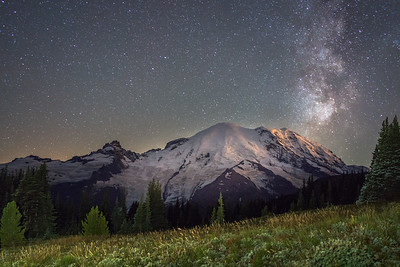 Milky Way over Rainier