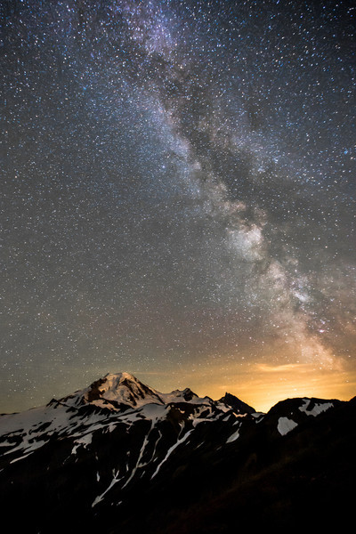 Milky Way over Mt. Baker
