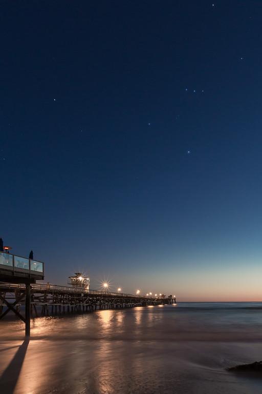 Orion over San Clemente Pier