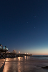 Orion over San Clemente Pier