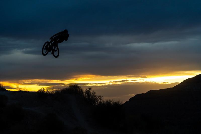 Kyle Warner and Kirt Voreis riding the Niner Bikes WFO 9 RDO in Southwest Utah.
