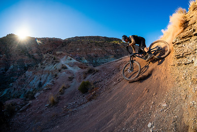 Kyle Warner riding the Niner Bikes WFO 9 RDO in Southwest Utah.