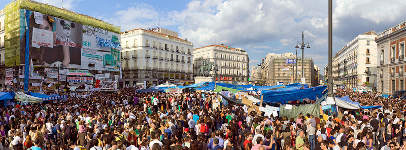 Demonstration in Puerta del Sol, Madrid 21 May 2011