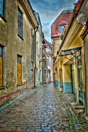 Very Narrow Street in Old Town