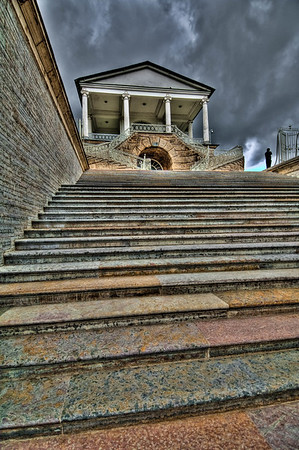 Colorful Stone Stairway