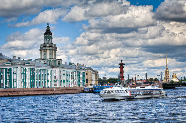 Hydroplane Commuter on the Neva River
