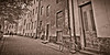 Quiet Street in Old Town, Sepia