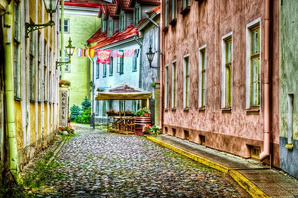 Tallinn Old Town Street Scene #2