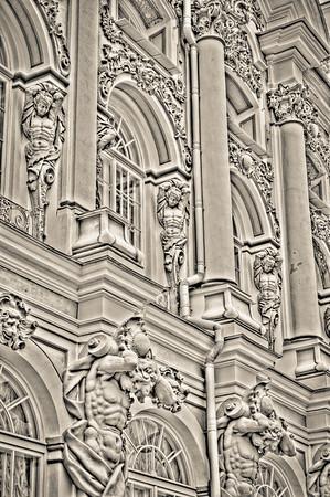 Catherine's Palace Detail, Monochrome