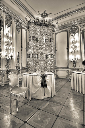 Catherine's Palace Decor, Monochrome
