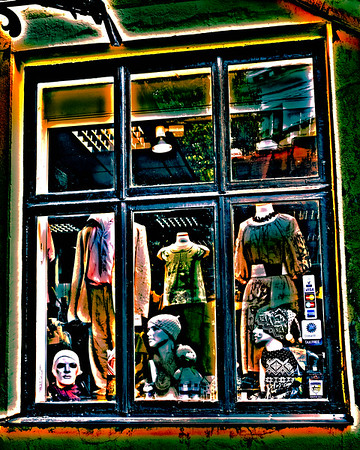 Store Window in Old Town