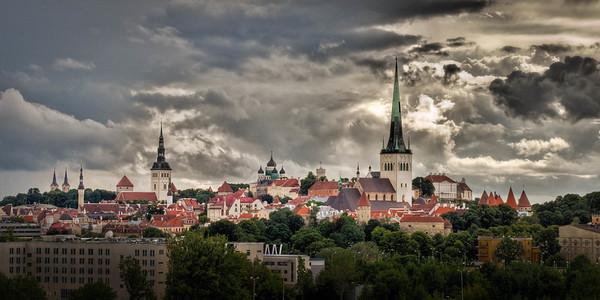 Tallinn Old Town Skyline