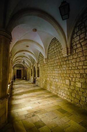 Dominican Monestary Outdoor Corridor