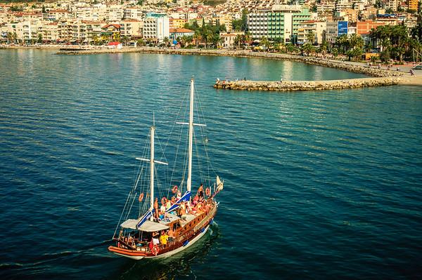 Pleasure Boat in Kusadasi Harbor